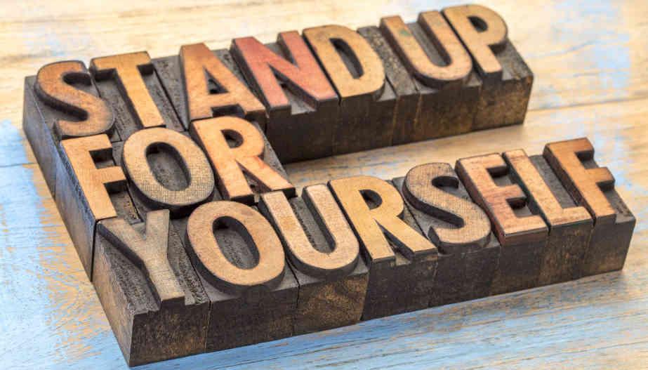 opkomen voor jezelf op het werk
